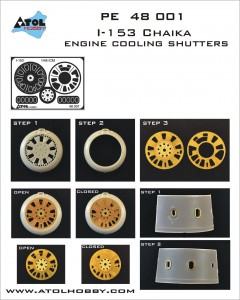 48 001 I-153 engine cooling shutters