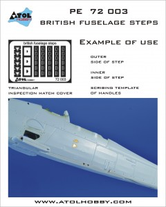 72 003 British fuselage steps