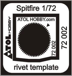 Spitfire rivet template 72 002