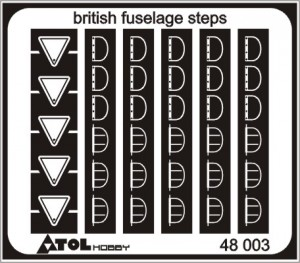 british fuselage steps 48 003